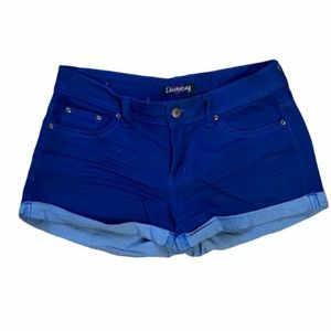 Discovery Solid Blue Denim Shorts, size 9